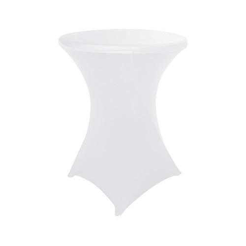 Nvfshreu Stretch Oslash 75 80Cm Stehtischhusse Für Bistrotisch Stehtische Mit 4 Einfacher Stil Füßen Professionel Tischüberzug Für Party Hochzeitsereignis(Apfel Rot) (Color : Weiß, Size : 70Cm)