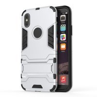 BCIT iPhone X (5.8 inch) Hülle - Hohe Qualität 3 Schicht Holster Combo Stoßfest [ Fallschutz ] Unterstützung Harter Abdeckungs Fall für iPhone X (5.8 inch) - Silber Silber