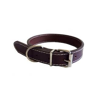 The Paws Traditional Plain Leather Collar, S, 40 cm, Brown 8