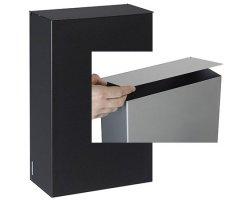 Rossignol Stella Wandabfallbehälter 10L aus Stahl mit UV-stabiler Pulverbeschichtung