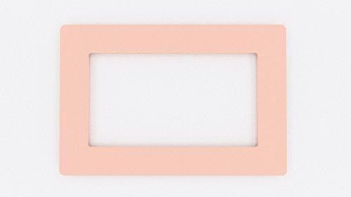 Lichtschalter Sockel Farbige Acryl Surround Finger Teller–Große Farbe wahl babyrosa
