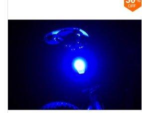 LaDicha Xanes Stl02 Smart Vélo Queue Lumière USB Charge Avertissement LED VTT Ronde Arrière Lanterne De Sécurité Arrière-Bleu