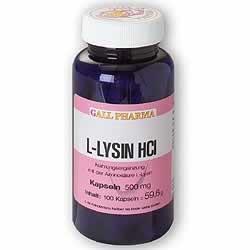 L-LYSIN 500 mg Kapseln 100 St Kapseln
