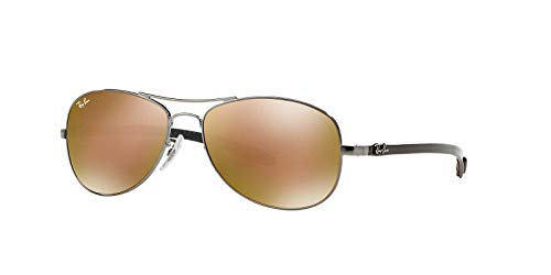 Ray-Ban Rayban Tech Carbon Fibre Frame Gold Mirror Lens Unisex Sunglasses 0RB8301004N359 0RB8301-004/N3-59