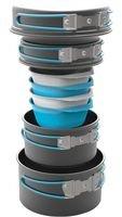 Preisvergleich Produktbild Highlander Apex Weekender Kochset - 1, 9 l & 1, 1 l Töpfe,  17 cm & 15 cm Bratpfannen,  4 x BPA-freie Schüsseln