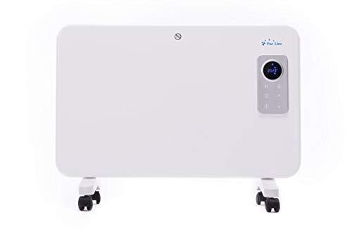 PURLINE Radiador Digital de Aluminio con Control WiFi por App de móvil o Tablet. Pared o Suelo Apto...