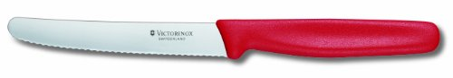 Victorinox Küchenbesteck 12-er Pack Tomatenmesser Cuchillo, Rojo, Med