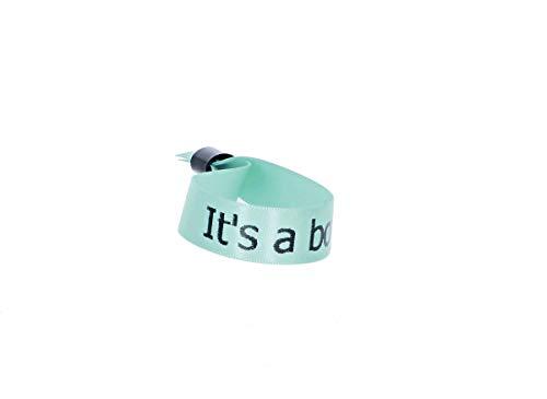5 JGA Armbänder, Team Bride, Junggesellinnenabschied, Gastgeschenke Hochzeit Festival Party Baby Shower, Farbe:caribean blue