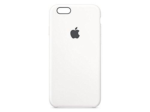 Verdickt Apple (Apple Silikon Case (iPhone 6s) - Weiß)