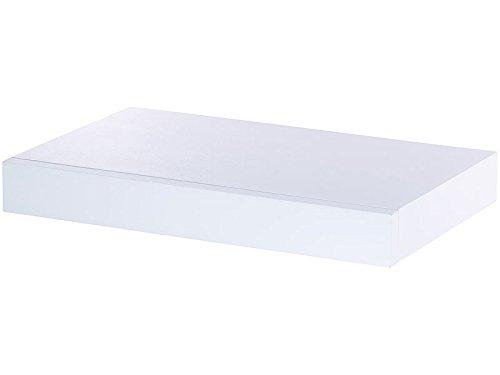 Wandregal mit Schublade   Bücherregal   Hängeregal   Regal   Nachtkästchen (Weiß) (Bücherregal Schublade)