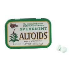 Spearmint Altoids Candy, 1.76 Ounce -- 12 per case.
