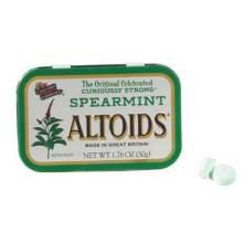 Spearmint Altoids Candy, 1.76 Ounce -- 12 per case.