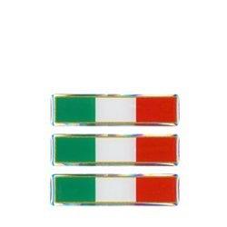 Preisvergleich Produktbild 3D-Sticker, Italien-Flagge, 3 Stück