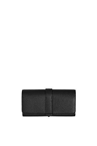 Esprit Accessoires Damen Faith Fltcltchf Geldbörse, Schwarz (Black), 2,5x9x19 cm