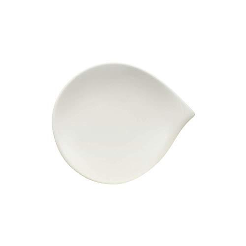 Villeroy & Boch Flow Plato para pan, 20 x 17 cm, Porcelana Premium, Blanco