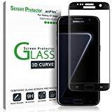 Galaxy S7 Edge Panzerglas, amFilm Vollständige Abdeckung (3D Abgerundete) Panzerglas (Gehärtetem Glas) Displayschutzfolie für Samsung Galaxy S7 Edge (1 Stück, Schwarz)