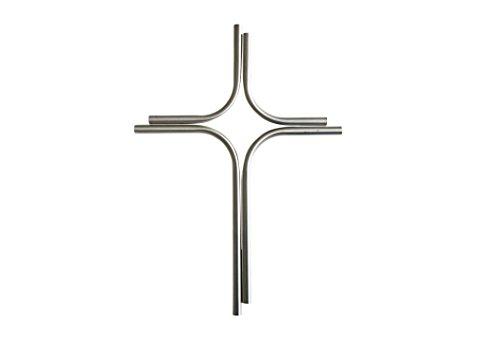 Edelstahl Kreuz 30 cm x 23 cm geschliffen