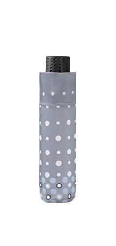 doppler Taschenschirm Fiber Havanna Pearl - Sehr leicht - Praktische Größe - 22 cm - Grau