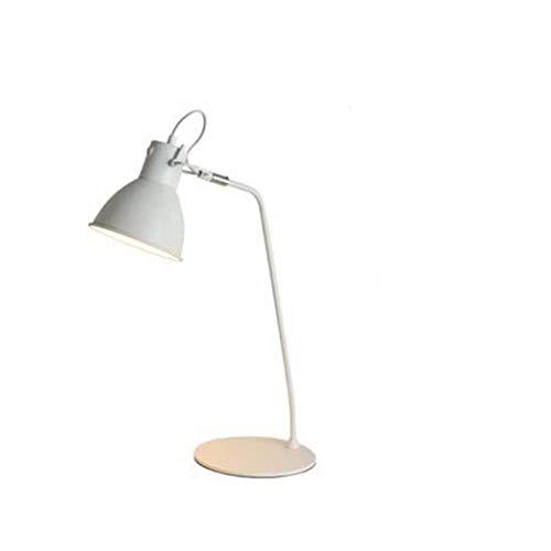Luminaire Chandelier Bureau d'étude minimaliste moderne Éclairage Lumineux Liseuse et lampadaire Lampadaire Chambre à coucher nordique Bureau de l'étudiant Travail LED Lampe de table blanch