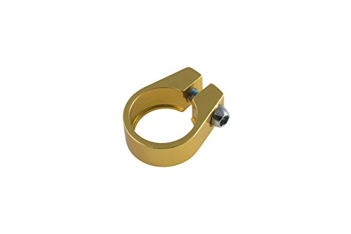 Unbekannt Pure Fix Sattelklemme, 28,6 mm, Unisex, Gold (Pure-fix-road-bike)