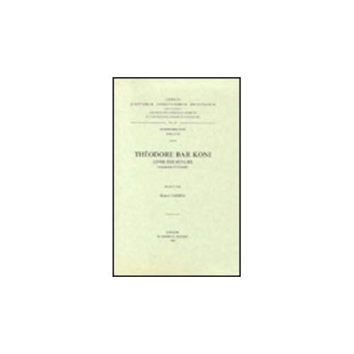 Theodore Bar Koni. Livre Des Scolies. Syr. 194.