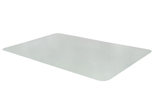 Bodenschutzmatte Unterlegmatte Schutzmatte PET Bruch- & Reißfest Haftschicht extrem belastbar transparent 40 x 60 cm