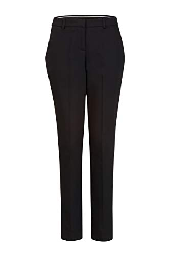 Steps Damen Hose Einfarbig Smart Essential - Sporty, But Still Elegant Pants Schwarz, 038