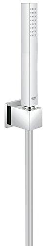 GROHE Euphoria Cube | Brausen- und Duschsysteme - Handbrause | mit Wandhalter, 1 Strahlart, mit Durchflusskonstanthalter | 27703000