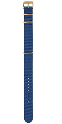 Pop Pilot Damen Stoff Uhrenarmband Denim-Blue L 20mm