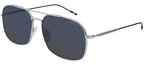 Sonnenbrillen Mont Blanc MB0046S Silver/Grey Blue Herrenbrillen