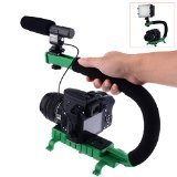 Neewer® C Shaped Video Action Stabilizing Handle Bracket for DV Camcorders DC DSLR Cameras and Point and Shoot Cameras--Green