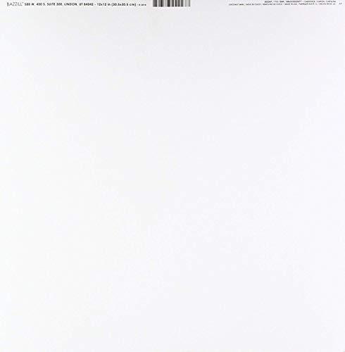 Bazzill Basics Paper Papier, Smoothies Coconut Swirl, Weiß, 25 Bögen (Cardstock Papier Weißen)