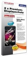iPhone 3G/3GS Schutzfolie 2er-Set: iPhone 3G/3GS Crystal Clear Displayschutzfolie mit Blasenfrei-Garantie!