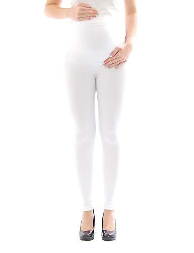 Leggings maternità Thermo Fleece interno Pantaloni lunghi Cotone pantacollant si aggirava intorno cotone bianco 5% elastam 5% spandex 5%