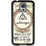 Harry Potter Coque Samsung Galaxy S5 Coque,Harry Potter Coque Samsung Galaxy S5 Black and PC Coque [Preuve Scratch] [Protection Goutte]