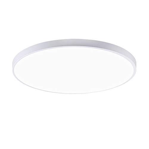 BFMBCHDJ Luz de techo LED moderna Luz LED Iluminación de sala de estar Redonda y cuadrada 3CM Slim...