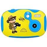AMKOV Mini Enfants Caméra Vidéo Numérique Batterie Rechargeable avec Bande Dessinée...