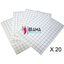 Bramacartuchos - 20X Hojas Papel Transfer para Camisetas de Algodon Blancas para Hp Canon Brother Epson