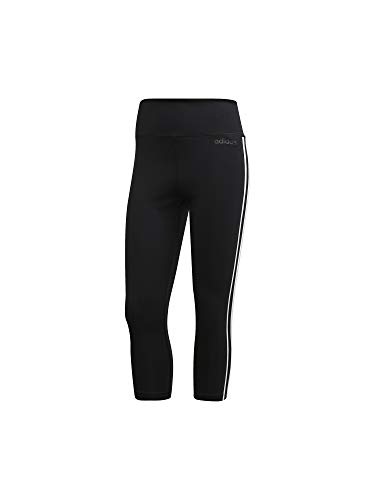 adidas Women D2m 3 Stripes 34 Tight Tights Donna