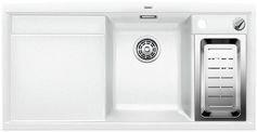 Preisvergleich Produktbild BLANCO AXIA II 6 S-F Spüle SILGRANIT PuraDur II weiß - 517649