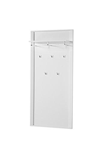 Stella Trading OGWW153041 Garderobenpaneel, circa 90 x 196 x 27 cm, weiß Nachbildung glänzend