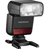 Insignia - Compact TTL Flash for Sony Cameras - Black