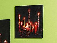 """LED-Leinwandfoto mit romantischem Kerzenflackern""""Romantic Moments"""" von Vertrieb-Wildermuth - Lampenhans.de"""