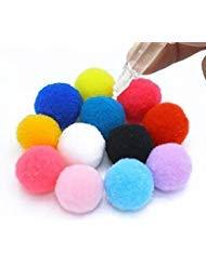 fodattm 50sortiert Farbe Aromatherapie ätherisches Öl Diffusor Pompons Ersatz Baumwolle Ball Refill für Parfüm Halskette Medaillon/Anhänger 15mm Cotton Balls (Diffusor öl Halsketten)