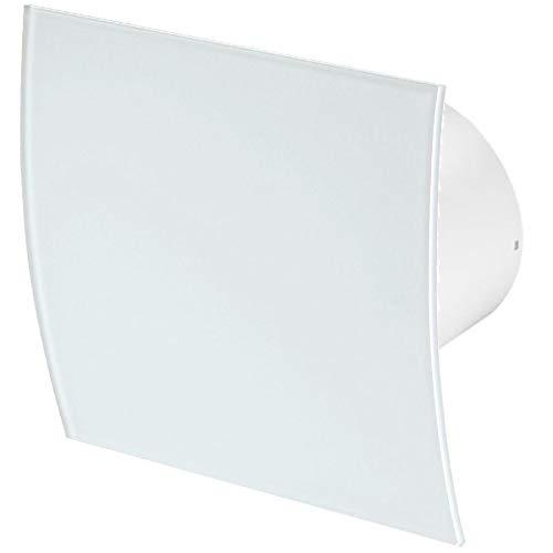100mm Zugschnur Dunstabzugshaube Weißes Glas Frontblende ESCUDO Wand Decke Belüftung
