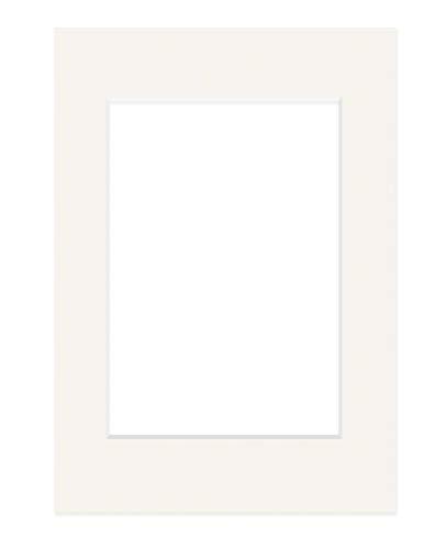 DEHA Passepartout, 42x59,4 cm (DIN A2), für Bilder im Format 29,7x42 cm (DIN A3), Elfenbein