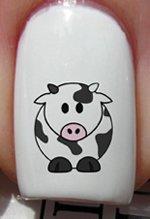 Vache coloré - Stickers pour ongles YRNAILS