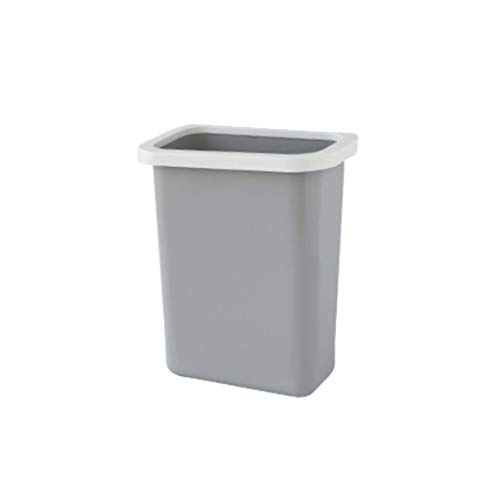 Zlw-shop Secchi per la spazzatura Mini Contenitore di rifiuti Multifunzionale Appeso Che ricicla Il Contenitore di stoccaggio dell'immondizia della Cucina del Ministero degli Interni (Color : Gray)