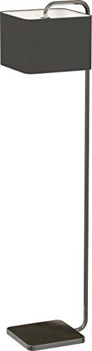 Miro Ranex Designer Stehleuchte, hochwertiger Stoffbezug, metall chromfarbig, Höhe 165 cm 6000.476 - Chrom Moderne Stehleuchte