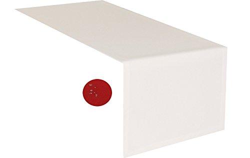 tischlaufer-creme-40-x-160-cm-abwaschbar-schmutz-und-wasserabweisend-eckig-grosse-farbe-wahlbar